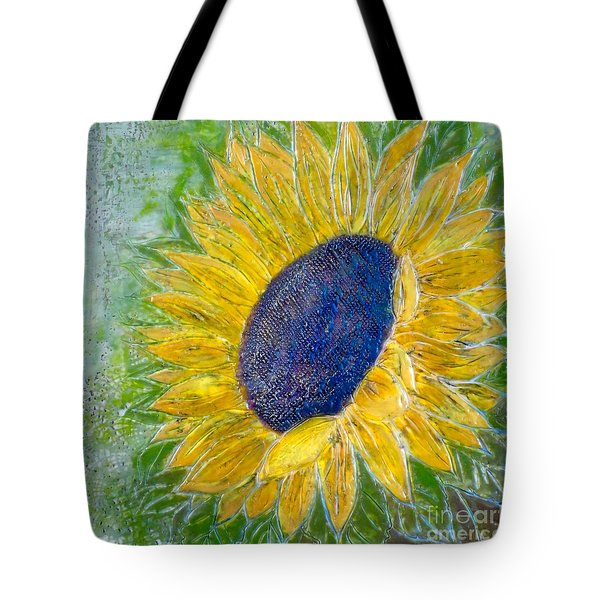 Sunflower Praises Tote Bag