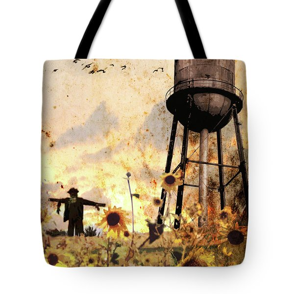 Sunflowers At Dusk Tote Bag
