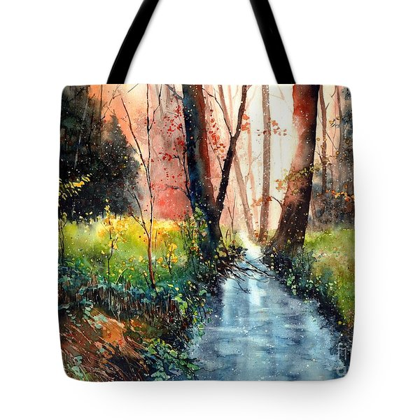 Sunlight Colorful Path Tote Bag