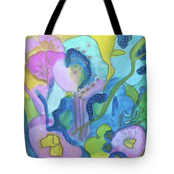 Sunny Day Abstract Tote Bag