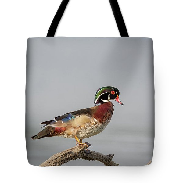 Sunny Day Wood Duck Tote Bag