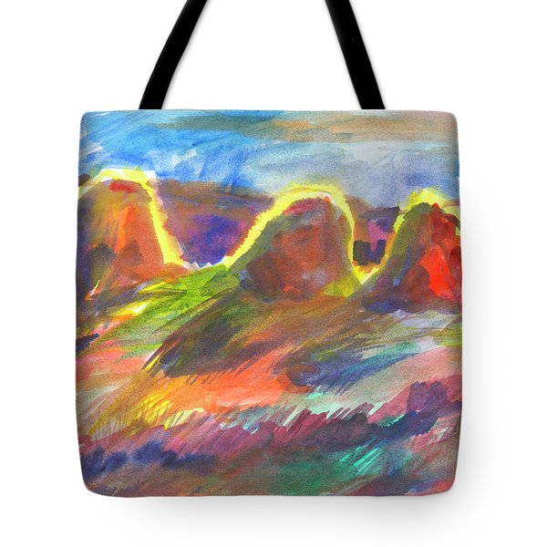 Sunny Haystacks Tote Bag