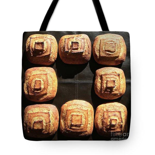 Sunny Sourdough Squares Tote Bag