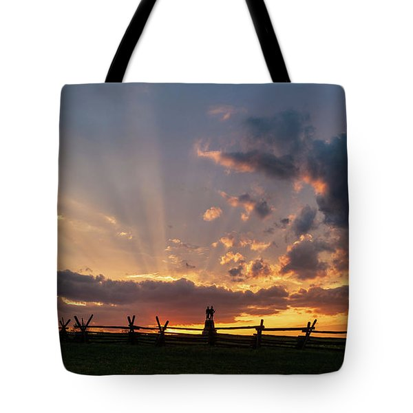 Sunrays At Sunset Tote Bag