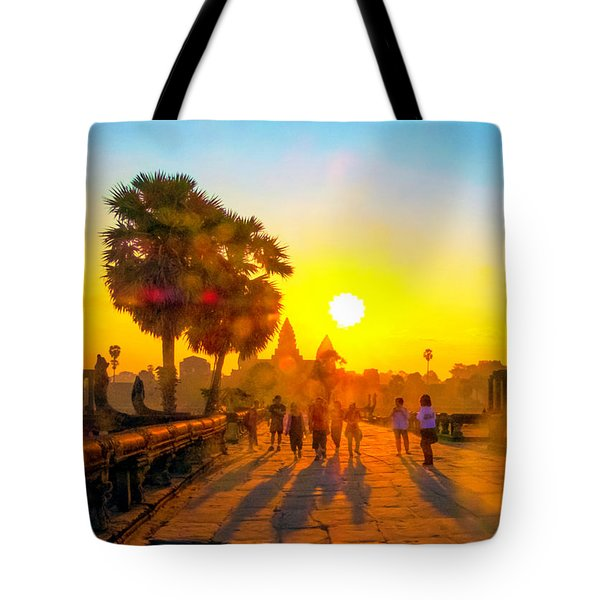Sunrise At Angkor Wat, Cambodia Tote Bag