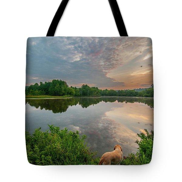 Sunrise At Ross Pond Tote Bag