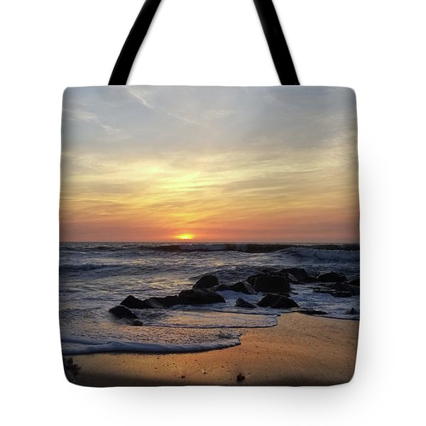 Sunrise At The 15th St Jetty Tote Bag