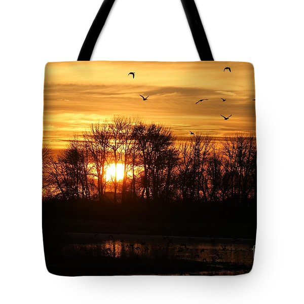 Sunrise Flight Tote Bag