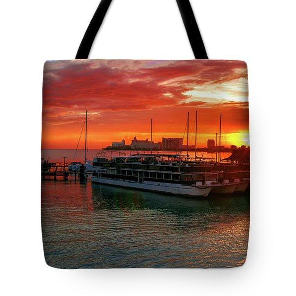 Sunrise In Cancun Tote Bag