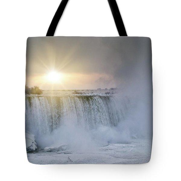 Sunrise In Niagara Falls Tote Bag