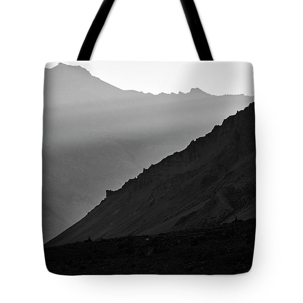 Tote Bag featuring the photograph Sunrise In The Himalayas by Whitney Goodey