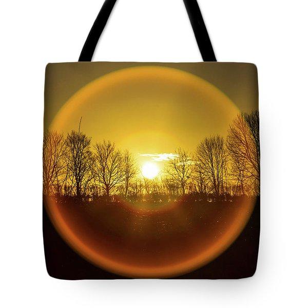 Sunrise. New Years Eve. Tote Bag