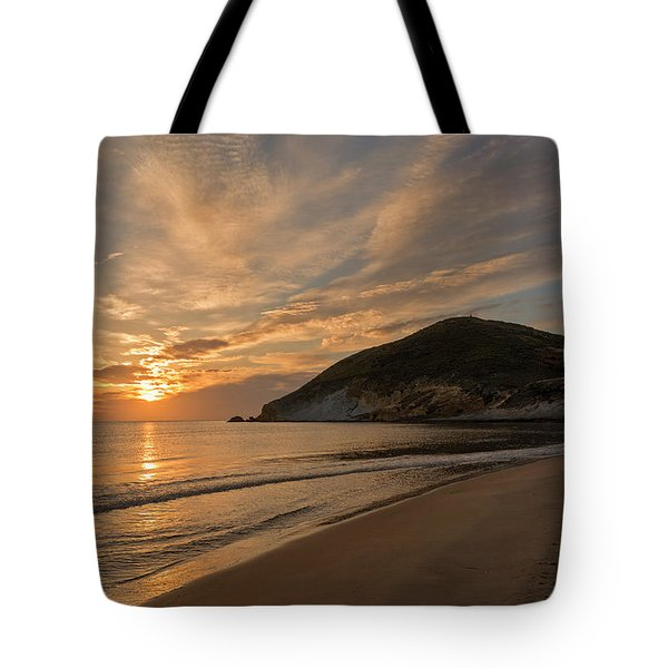 Sunrise On The Beach Of The Genoveses Of Cabo De Gata Tote Bag