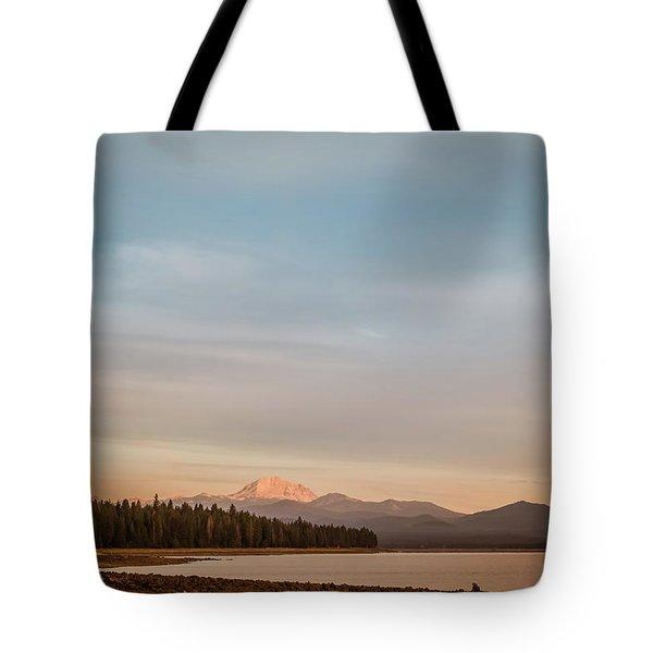 Sunrise On Westshore Lassen Peak Tote Bag
