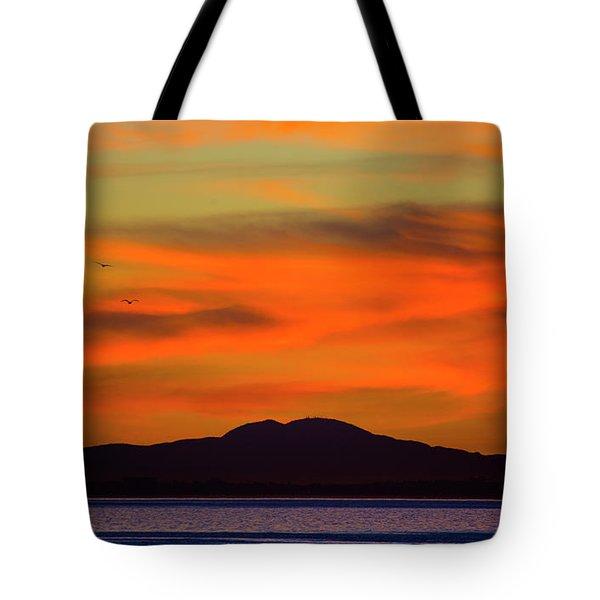 Sunrise Over Santa Monica Bay Tote Bag