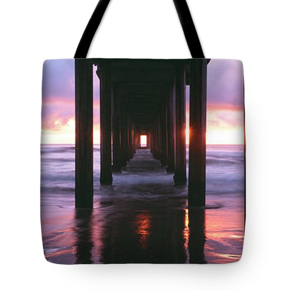 Sunrise Over The Pacific Ocean Seen Tote Bag