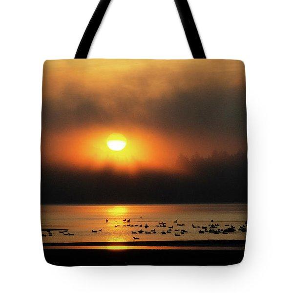 Sunrise Rathtrevor Beach 4 Tote Bag