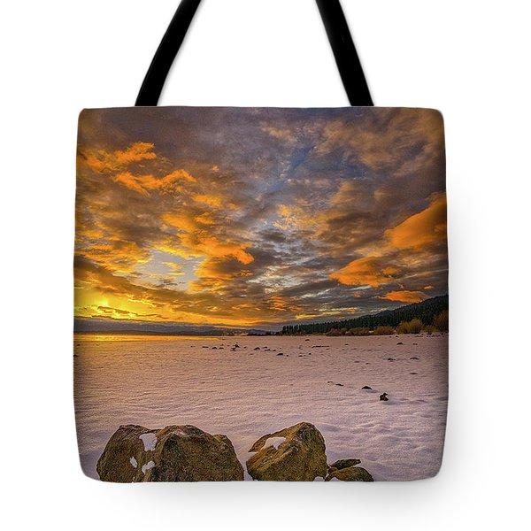 Sunrise Rocks Tote Bag