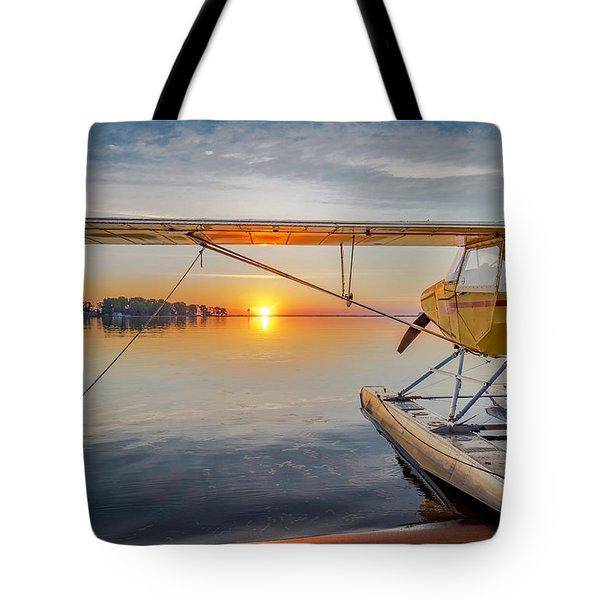 Sunrise Seaplane Tote Bag