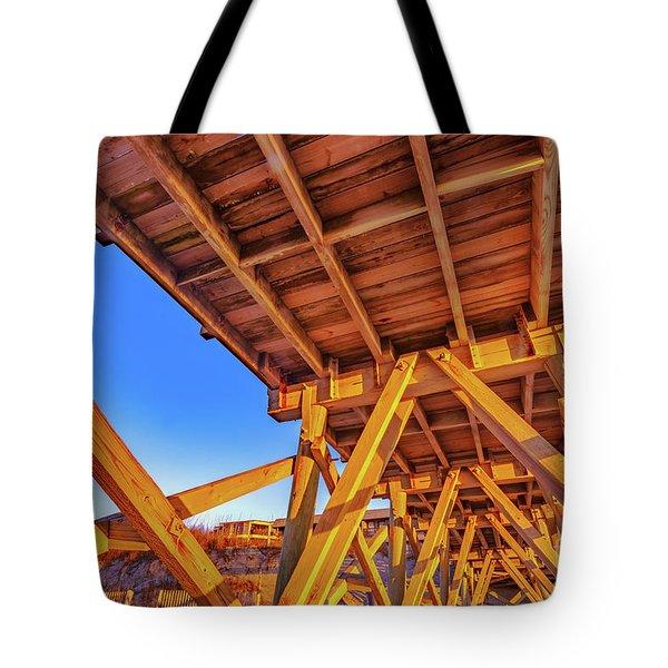 Sunrise Under The Sea Cabin Pier  Tote Bag