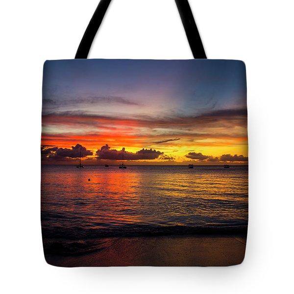 Sunset 4 No Filter Tote Bag