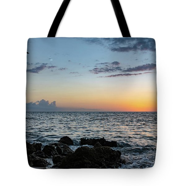 Sunset Afterglow In Negril Jamaica Tote Bag