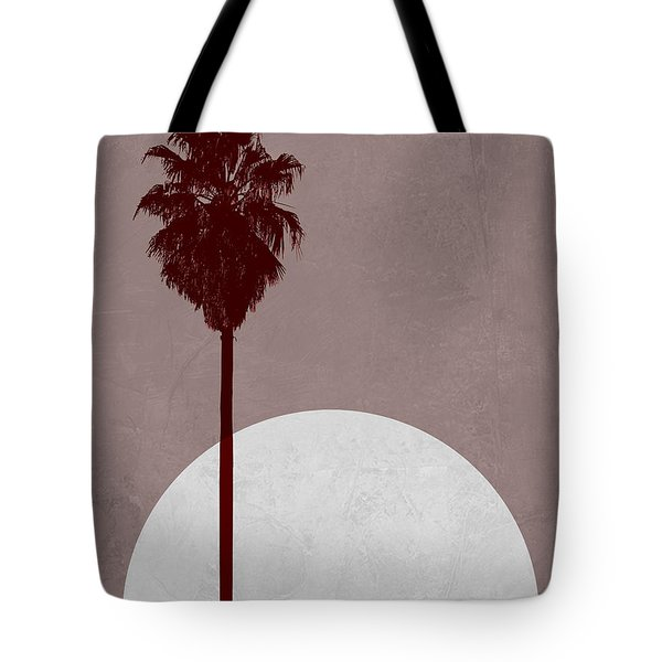 Sunset And Beach Palm Tree  Tote Bag