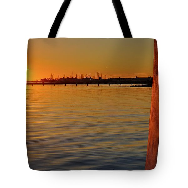Sunset And Old Watermill Tote Bag