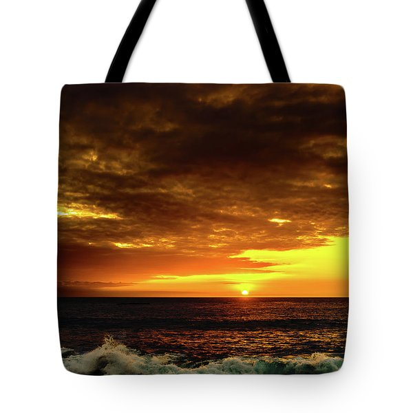 Sunset And Surf Tote Bag