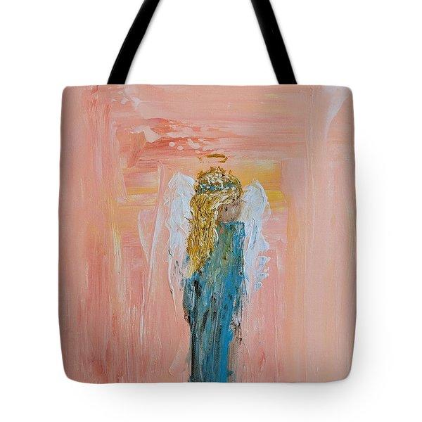 Sunset Angel Tote Bag