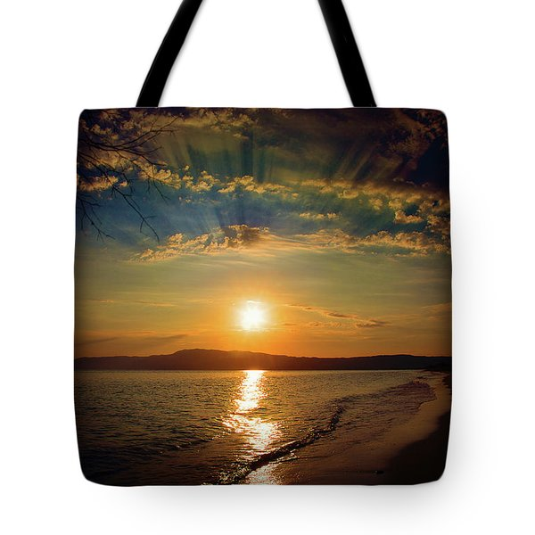 Tote Bag featuring the photograph Sunset Artistry by Milena Ilieva
