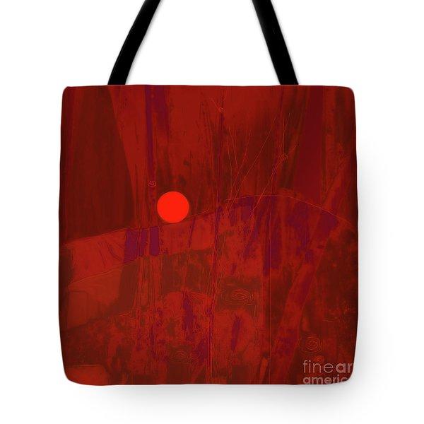 Sunset As Siler Metaphorm Tote Bag