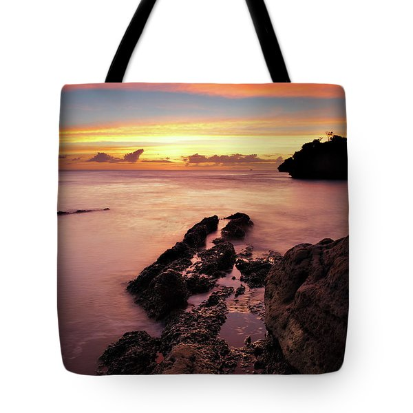 Sunset At Columbus Bay Tote Bag
