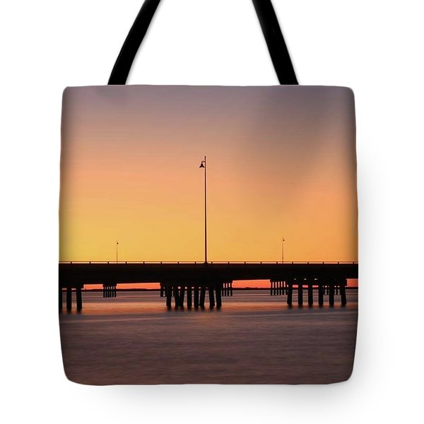 Tote Bag featuring the photograph Sunset At Punta Gorda by Paul Schultz