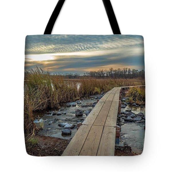 Sunset At Purgatory Creek Tote Bag