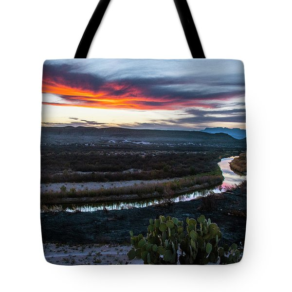 Tote Bag featuring the photograph Sunset At Rio Grande Village by Matthew Irvin