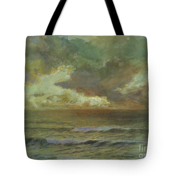 Sunset At Seascale Tote Bag