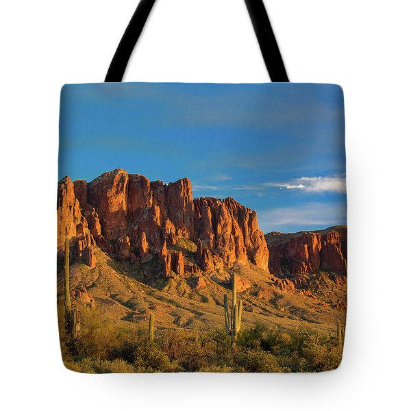Sunset At Superstition Mountain Tote Bag