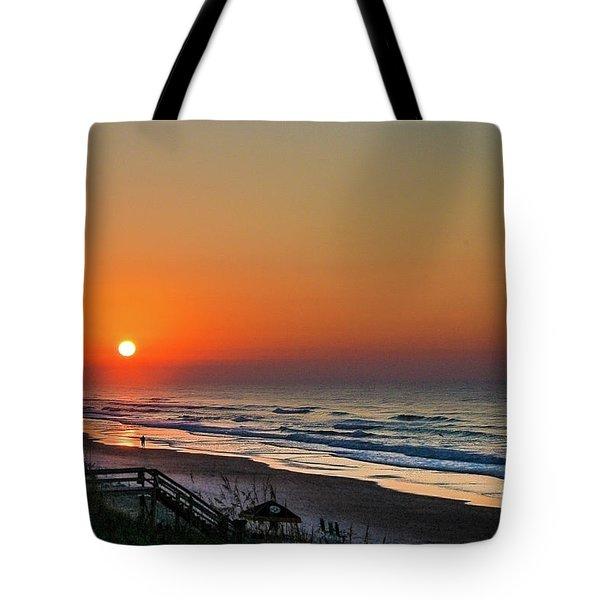 Sunset At Surf City Nc Tote Bag