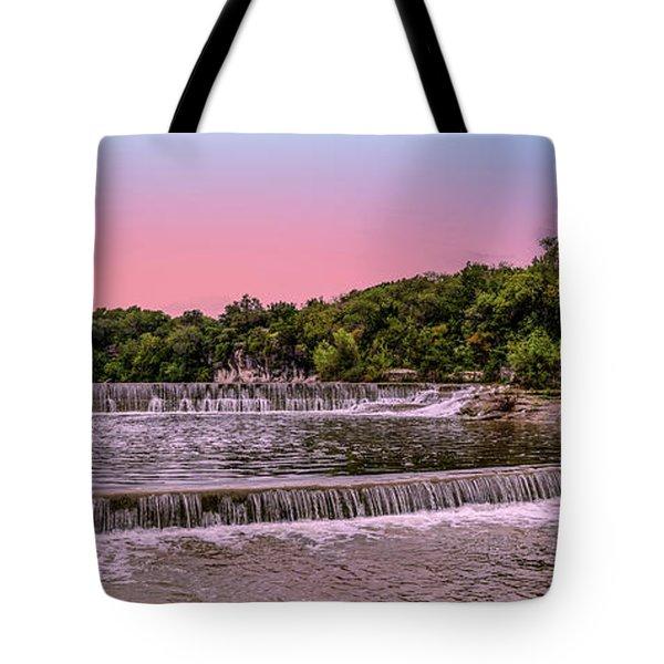 Sunset At The Falls Tote Bag
