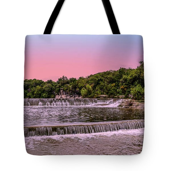 Sunset At The Falls Tote Bag