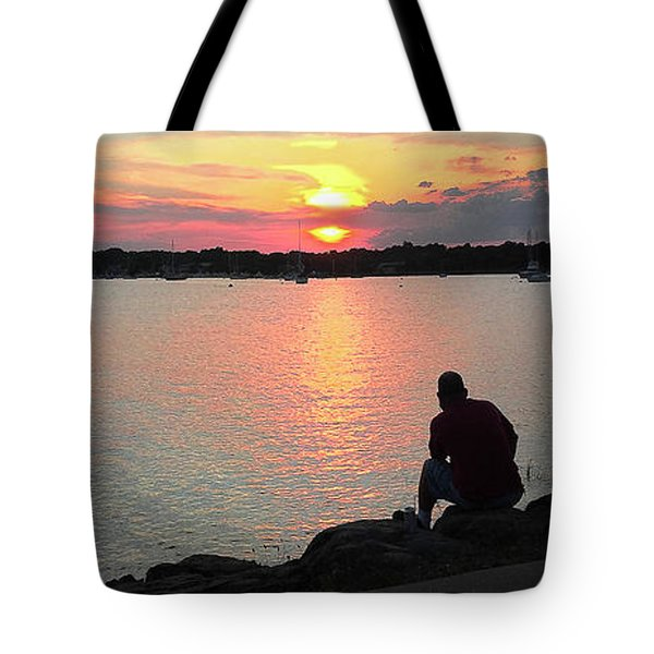 Sunset At The Park Tote Bag