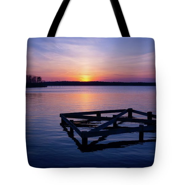 Sunset At The Reservoir  Tote Bag