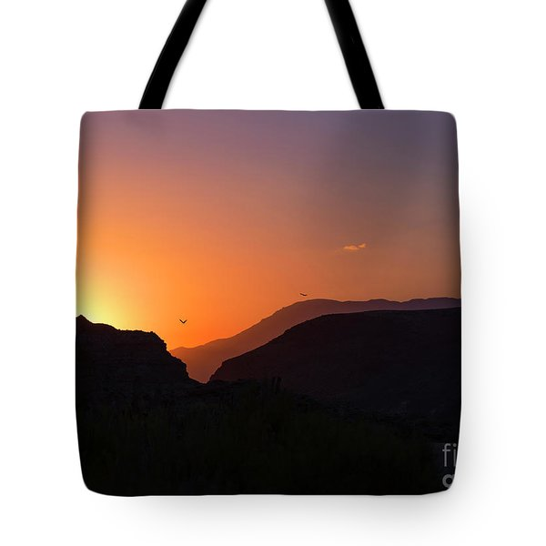 Sunset At Zion Tote Bag