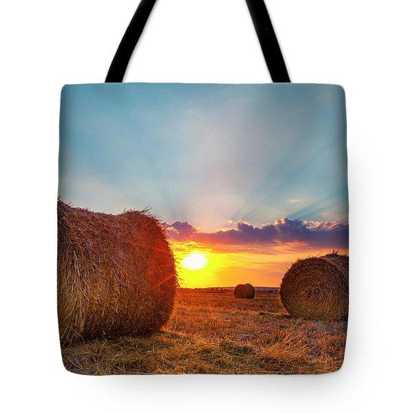 Sunset Bales Tote Bag