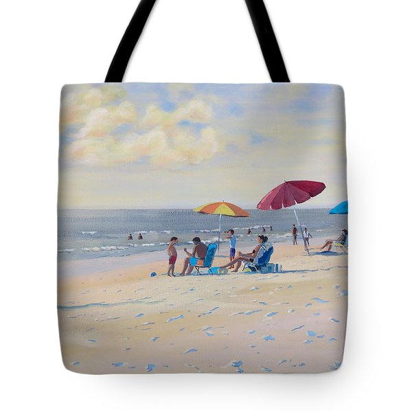Sunset Beach Observers Tote Bag