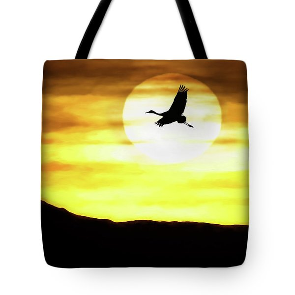 Sunset Flyway Tote Bag