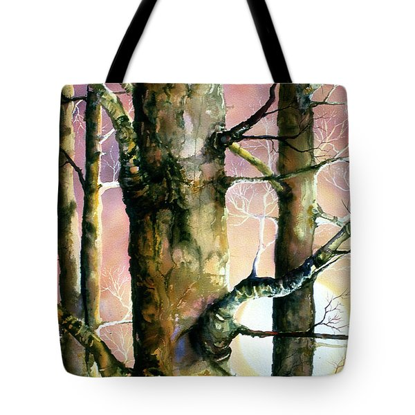 Sunset Forest Tote Bag