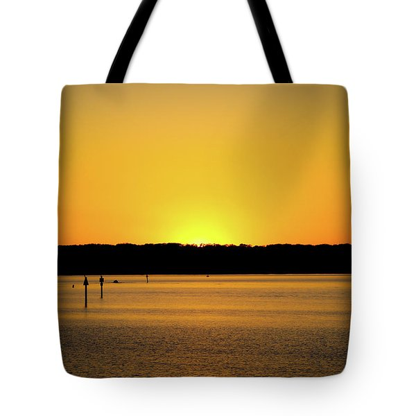 Sunset From National Harbor Tote Bag