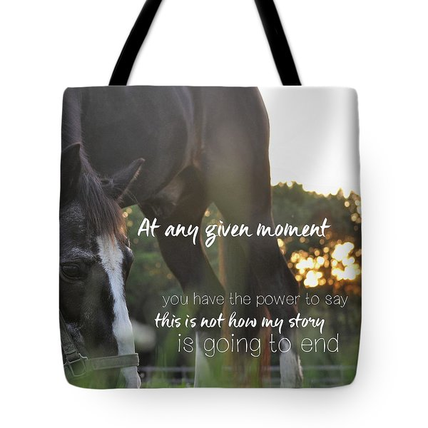 Sunset Grazing Quote Tote Bag